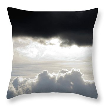 Storm Clouds 3 Throw Pillow by Andee Design