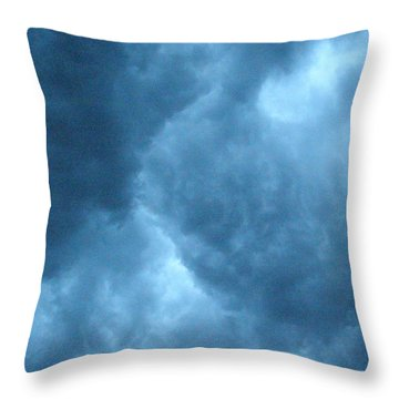 Throw Pillow featuring the photograph Storm Clouds by Angie Rea