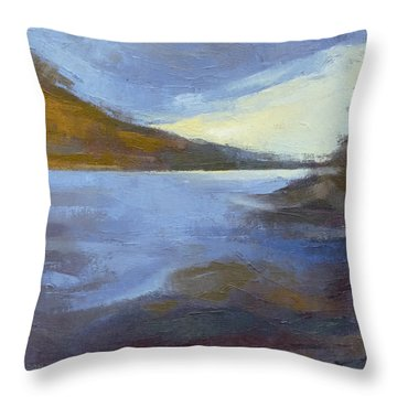 Storm Clouds Break Over The River Gorge Throw Pillow
