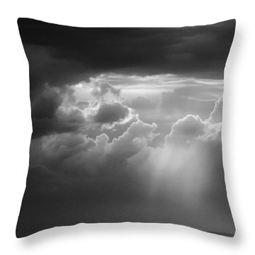 Storm Clouds Clearing Throw Pillow by Michael Hubley