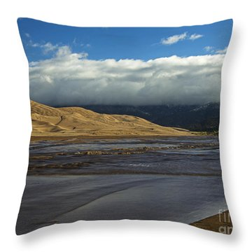 Storm Clouds Great Sand Dunes National Park Throw Pillow