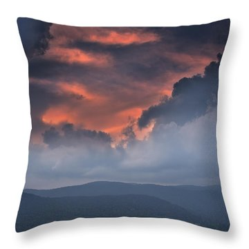 Throw Pillow featuring the photograph Storm Clouds by Ken Barrett