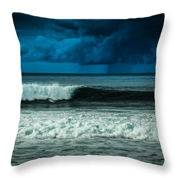 Storm Clouds On The Horizon Throw Pillow
