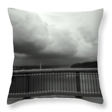 Storm Clouds On The Hudson Throw Pillow