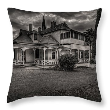 Storm Clouds Over Old House Throw Pillow