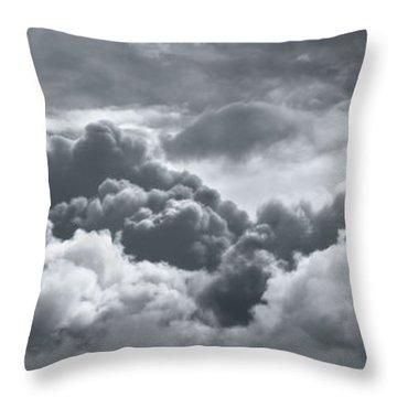 Storm Clouds Over Sheboygan Throw Pillow