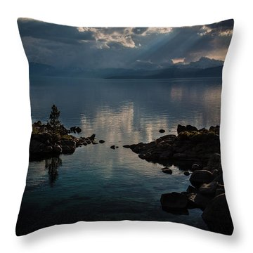 Storm Clouds Over The Island Throw Pillow