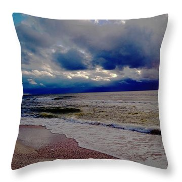 Storm Clouds Throw Pillow by Vicky Tarcau