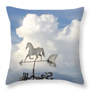 Storm Clouds Weather Vane Throw Pillow