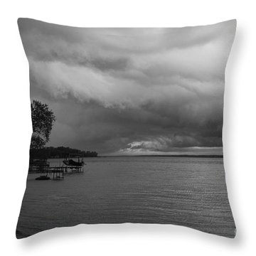 Throw Pillow featuring the photograph Storm Clouds by William Norton