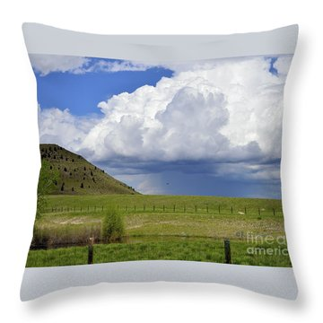 Storm Coming In Throw Pillow