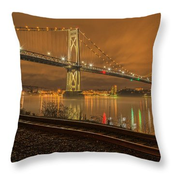 Storm Crossing Throw Pillow by Angelo Marcialis
