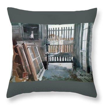 Storm Doors Throw Pillow by Donald Maier