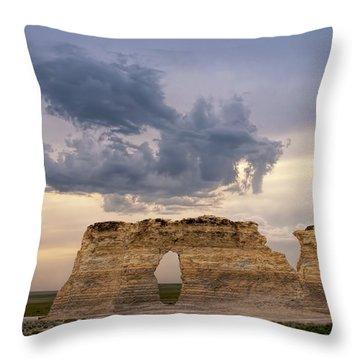 Storm Dragon Throw Pillow