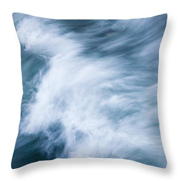 Storm Driven Throw Pillow by Mike  Dawson
