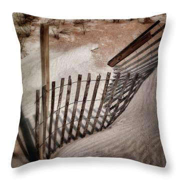 Storm Fence Series No. 2 Throw Pillow by John Pagliuca