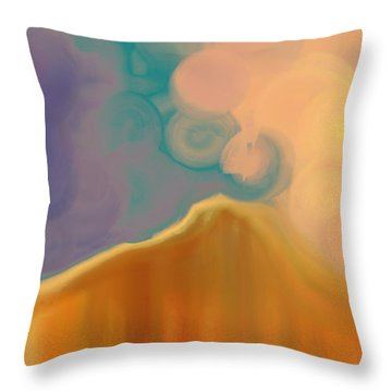 Storm From The East Throw Pillow by Lenore Senior