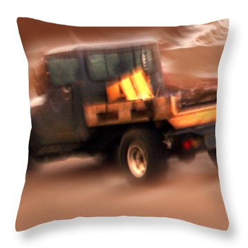 Still Truckin' Throw Pillow