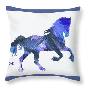 Storm Horse Throw Pillow