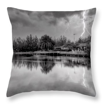 Storm In Paradise Throw Pillow