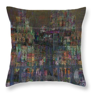 Storm In The City  Throw Pillow by Andy  Mercer