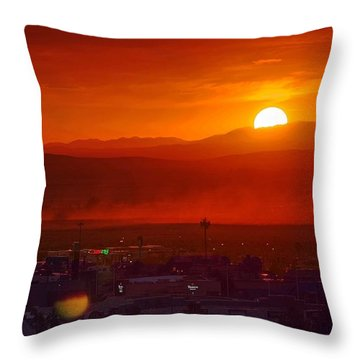 Storm In The Desert Throw Pillow