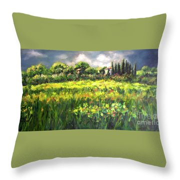 Storm In Tuscany Throw Pillow