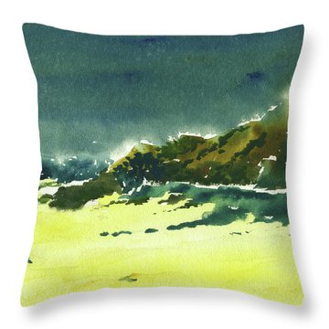 Storm Is Brewing Throw Pillow by Anil Nene