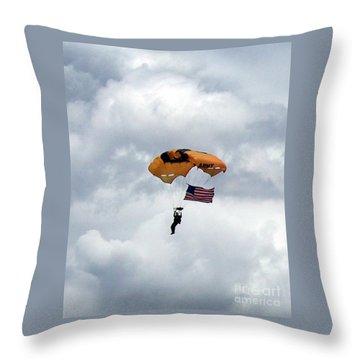 Storm Jump Throw Pillow