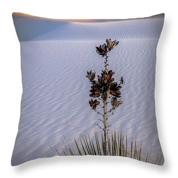 Storm Light At White Sands Throw Pillow