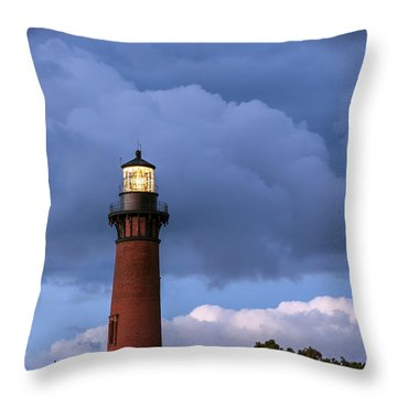 Storm Looms Near Currituck Beach Lighthouse Throw Pillow