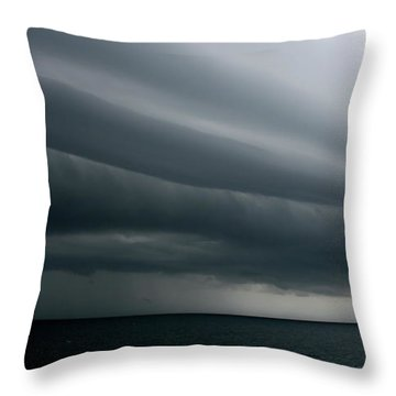 Storm Near Liberia Throw Pillow