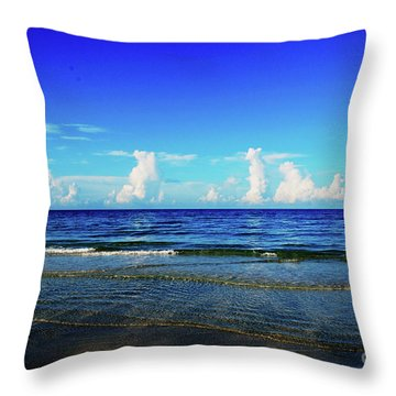 Throw Pillow featuring the photograph Storm On The Horizon by Gary Wonning