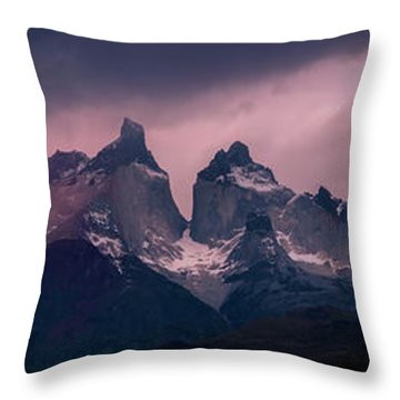 Storm On The Peaks Throw Pillow by Andrew Matwijec