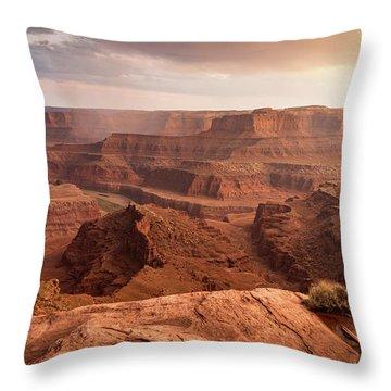 Storm Over Canyonlands Throw Pillow