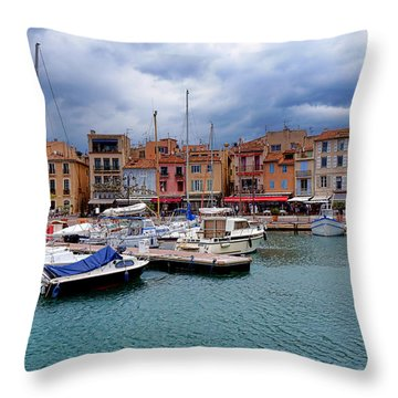 Storm Over Cassis Throw Pillow by Olivier Le Queinec