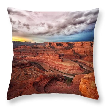 Storm Over Dead Horse Point Throw Pillow