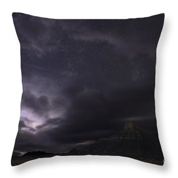 Storm Over Factory Butte Throw Pillow