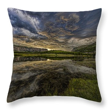 Storm Over Madison River Valley Throw Pillow