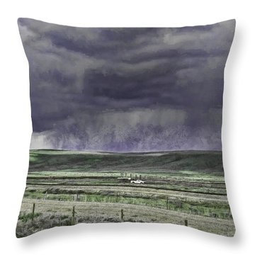 Storm Over Monida Pass  Throw Pillow