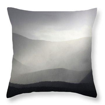Storm Over Mount Katahdin Throw Pillow