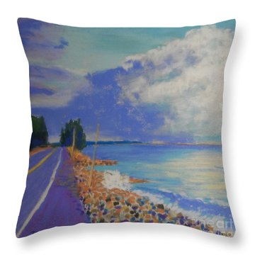 Storm Over Queensland Beach Throw Pillow