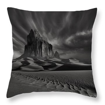 Storm Over Shiprock New Mexico Throw Pillow