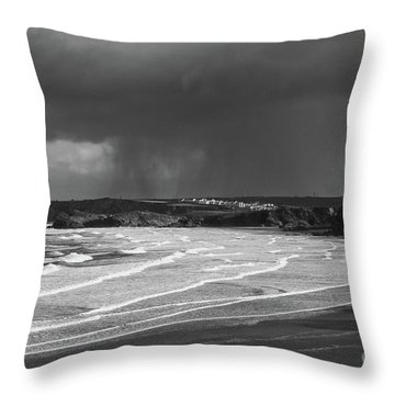 Throw Pillow featuring the photograph Storm  Over The Bay by Nicholas Burningham