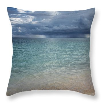 Throw Pillow featuring the photograph Storm Over The Caribbean Sea by Yuri Santin