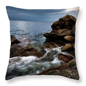 Throw Pillow featuring the photograph Storm Pass Halibut Pt. by Michael Hubley