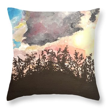Storm Passing Through Throw Pillow