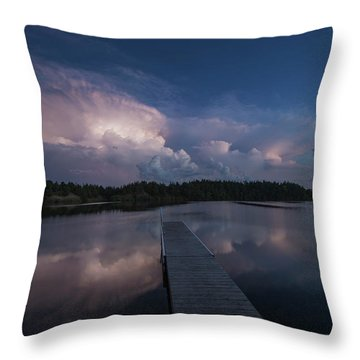 Throw Pillow featuring the photograph Storm Reflection by Aaron J Groen