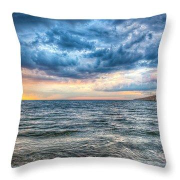 Storm Rising Throw Pillow