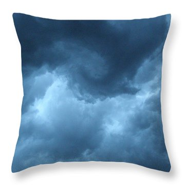 Throw Pillow featuring the photograph Storm Rolling In by Angie Rea